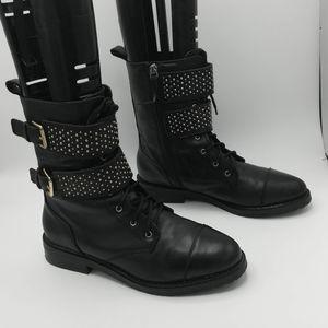 Rebecca Minkoff Jaiden Combat Boot Lace /Zip Up